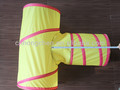 New design Arrive T Style Cat Tunnel Pet Toy Wholesale Candy Color Polytser cat tunnel