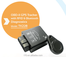 Mini Car Tracker OBD II GPS Tracking Device for Taxi / Vehicle Fleet Management Plug & Play Support IOS Android APP from china