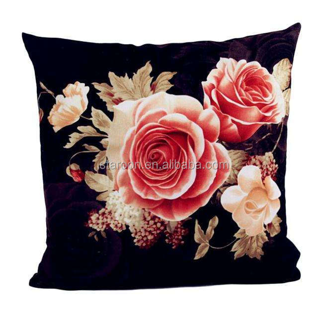 promotional cotton fabric various pattern printed cushion pillow