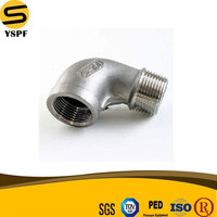 AISI SS304,SS316,SS201,ASTM A351 Stainless Steel 150LB Female And Male Threaded 90degree Reducing Elbow Casting Fitting