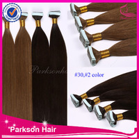 PU tape in human hair extension any color high quality for black women cheap remy tape hair extension