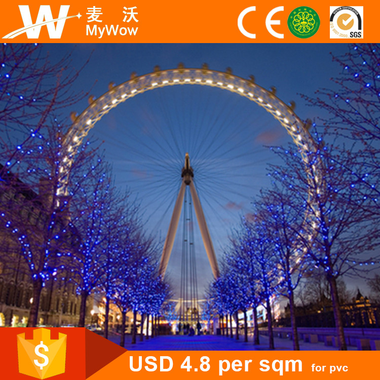[BH3272] Promotion!! Decorative Custom Sky Wheel Wall Mural 3D Photo Paper Wall