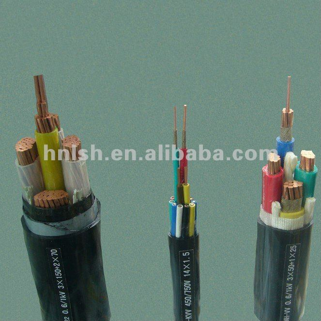 Copper PVC insulated low voltage electric cable