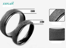 Wedding Ring Sand Polishing Couples Rings Fashion Jewelry Titanium Ring
