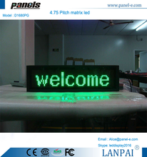Superb quality cheap 4.75 pitch matrix led moving display sign board message moving board with 16 x 80 pixel dots