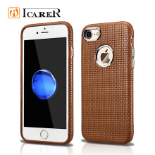 Embossing Leather Back Cover for iPhone 7 Phone Case ,Woven Pattern Back Cover for iPhone7 7plus Case