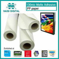 130mic adhesive matte coated pp paper roll for inkjet printing