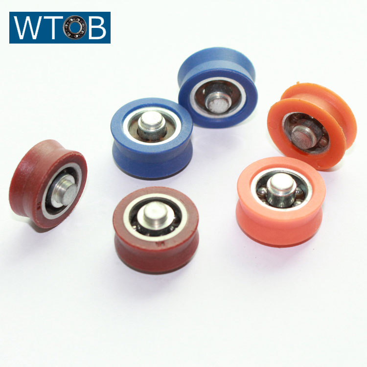 PA66/POM/Nylon Plastic Roller for Sliding Doors Roller with V Groove