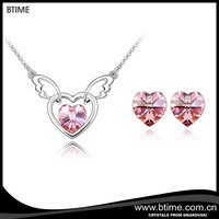 Sweet Heart Angel Wings Pendant Jewelry