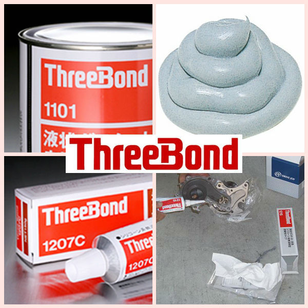Durable liquid gasket and sealant for sealing surface of industrial equipment. Manufactured by ThreeBond Inc. Made in Japan