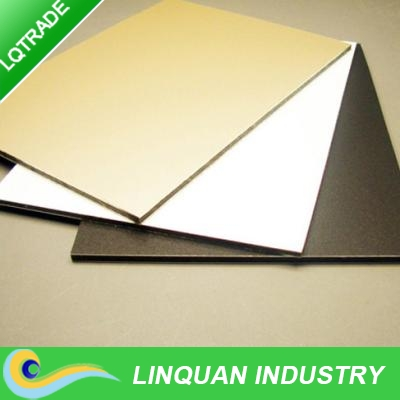 Gold Exterior Building Wall Aluminum Composite Finishing Materials/House Construction Material