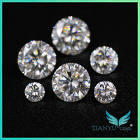 Hot New Product Gems Processing Wholesale White Semi Precious Fire Resistant Moissanite Diamond Stone For Sale 40% Discount