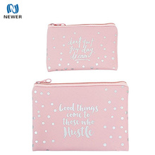 High quality pretty candy color neoprene promotional handy cosmetic women pouch