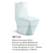 Ceramic designer cover toilet bowl round W110