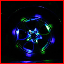 Brand New 12 LED Car Auto Solar Energy Flash Wheel Tire Light Lamp Decoration/Warning Function Car Rim Wheel Lights Drop Ship