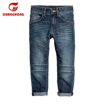 Wholesale cheap baby jean hot boy jeans pants dark bule kid jeans