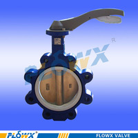 Top quality exported manual face to face butterfly valve