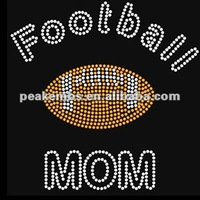 Hot fix Studs for Footbal Mom Rhinestone Sports Transfers