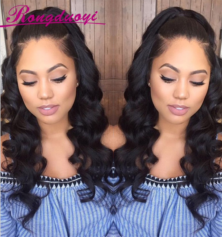Aliexpress Hot Selling Body Wave Good Grade Full Lace Wig with Baby Hair