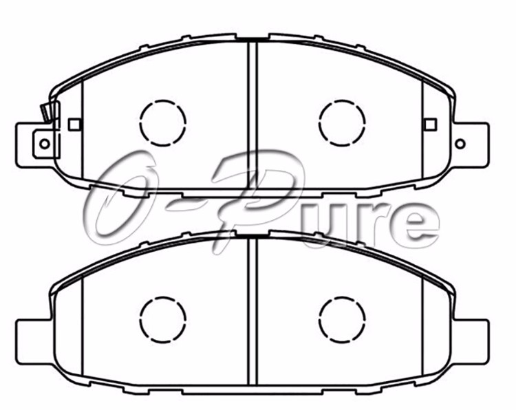 Auto Spare Parts Disc Brake Pads FMSI D1191 China Low Price Ceramic for Nissan Urvan