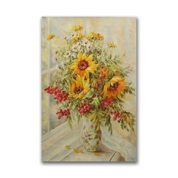 Sunflower Oil Painting for Home Decoration