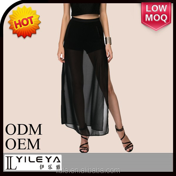 fashionable transparent sexy long latest skirt design pictures