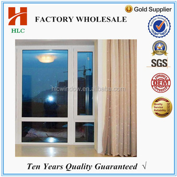 6mm double tempered glass fixed aluminium window