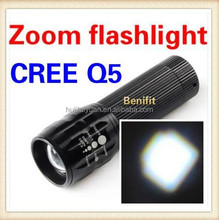 High Power Torch Light Emergency Rechargeable CREE Q5 Led Flashlight