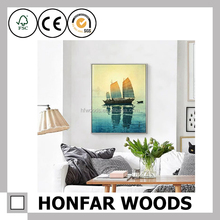 Hotel decor canvas 3d wall art natural scenery painting for master bedroom