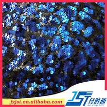 Embroidery two tone sequins fabric for dress making