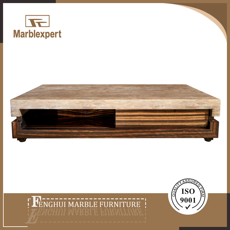Factory direct sell marble top coffee table and end table