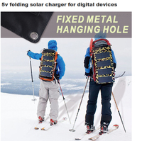 mobile phone solar charger fabric fold folding bag solar panels