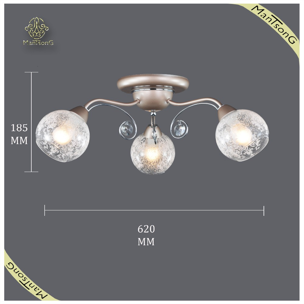 Modern Round Glass Shade Ceiling Light Indoor Light Fixture of Ceiling, Modern Iron Base Ceiling Light