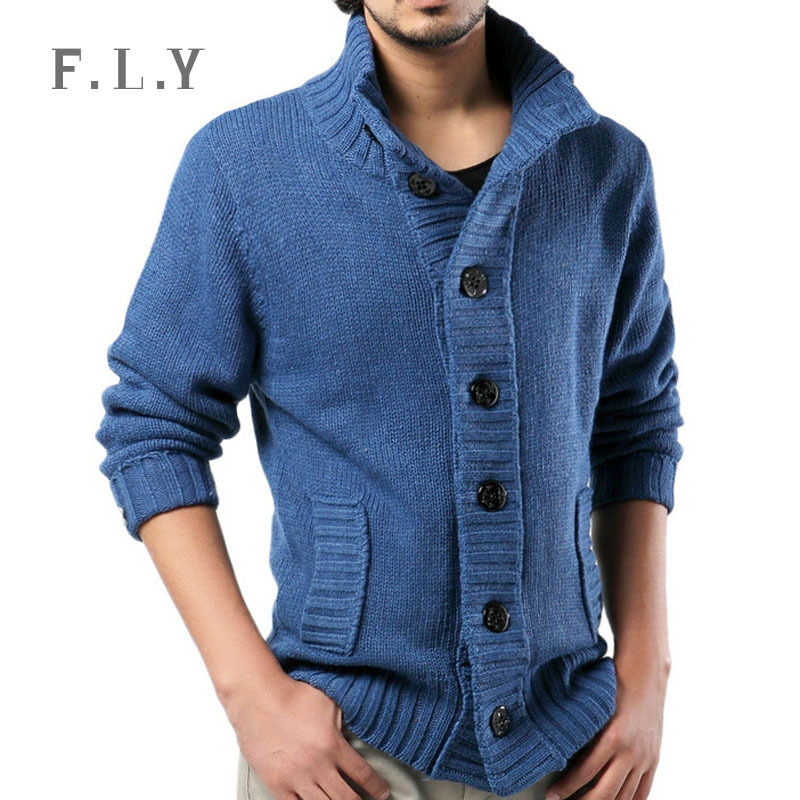 Mens Sweater Autumn and Winter New 2015 Fashion Long Sleeve Thick Cardigan Men Sweater Cheap Clothes blusa masculina MXD0019