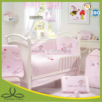 Pink baby bedding crib sets for baby girl