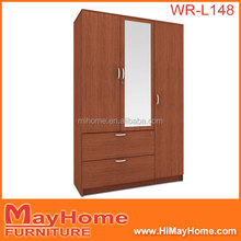 New european design waterproof material storage closet with 3 door and 2 drawer