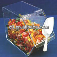 diamond shaped mini clear plastic acrylic candy box