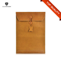 Latest Fashion Customized Genuine Leather Notebook Sleeve Case