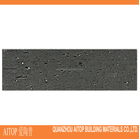 Dark grey natural look exterior wall paneling brick tile standard size