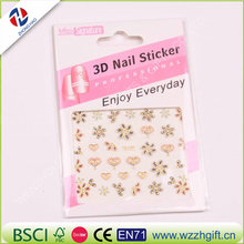 Nail Art Water Sticker Transfer Decal Gold Metallic Bow 3D Design Manicure Tips DIY Nail Foils Decorating Tools