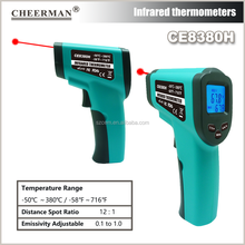 CE8380H -50-380 Degree thermometer bbq Non-contact Infrared IR Laser Digital Thermometer CE Approved