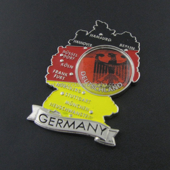 Germany Map Fridge Magnet Custom Metal Souvenir Craft