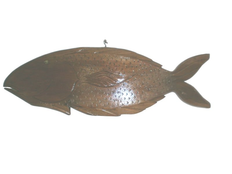 Wooden Fish Wall Decor and Tray