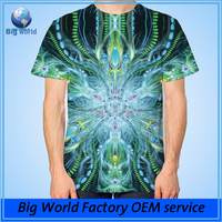 factory custom Full printing 3 d t shirt all over print t-shirt
