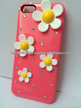 New Flower Design Diamond Crystal Bling Case For Iphone 4 4s 5 5s