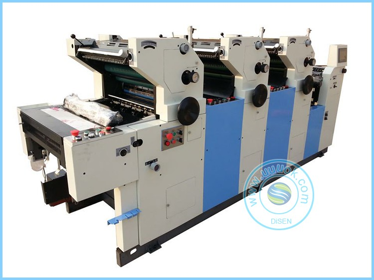Digital control industrial 3 color offset printing machine for sale
