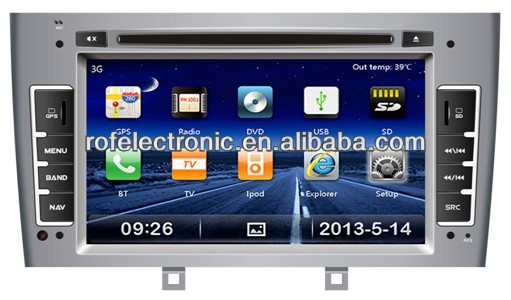 PEUGEOT 308 7 inch car dvd player gps