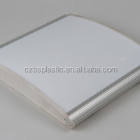 Flexible Clear Polycarbonate Light Diffuser Back