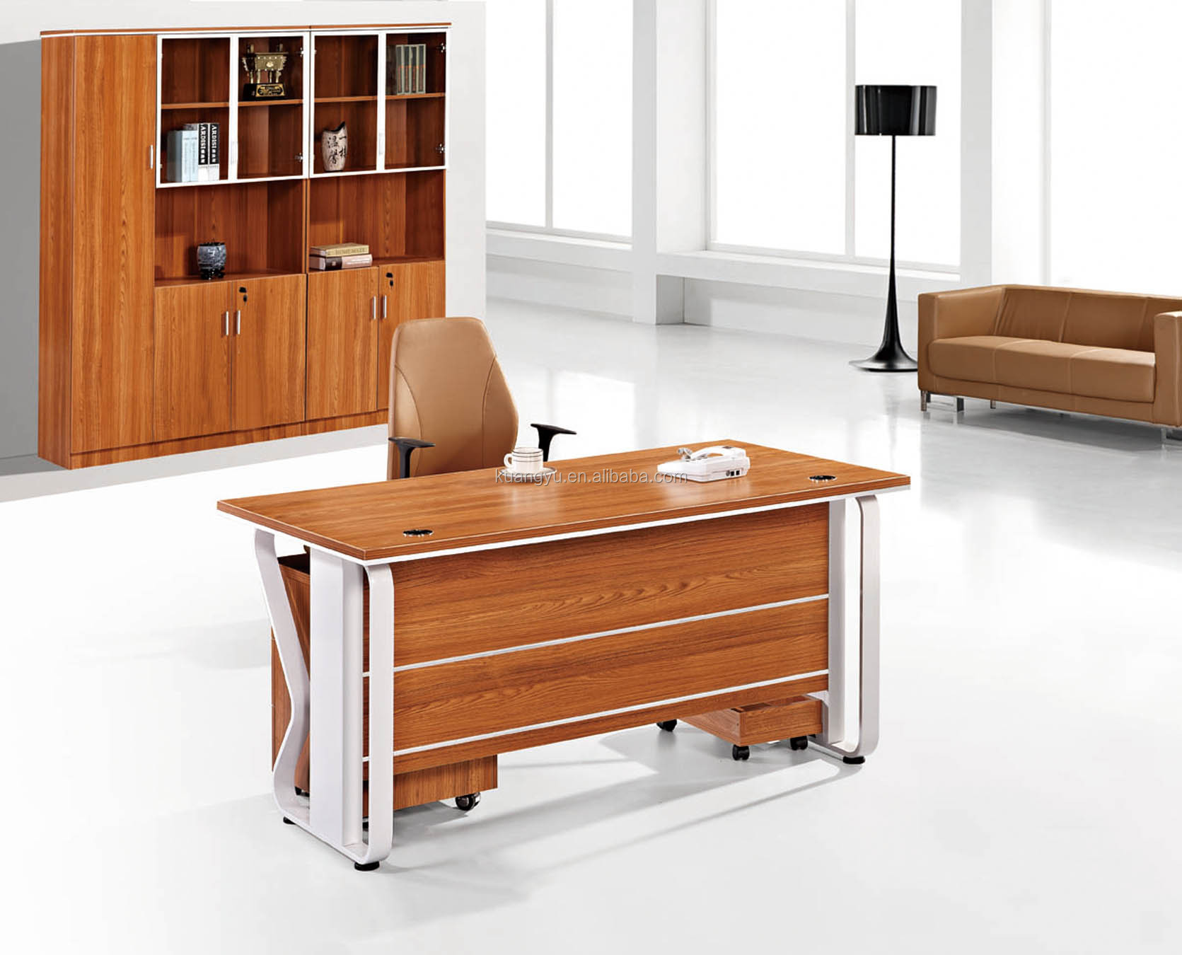 Cheap I shaped Office Desk,whole sale office desk,Rectangular Shaped Office Desk