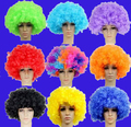 New Curly Funny synthetic Afro wig Circus Clown Halloween Funky Disco Fancy Dress Costume Wig